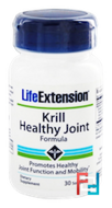 Krill Healthy Joint Formula, Life Extension, 30 Softgels - 12/19