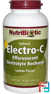 Buffered Electro-C, Lemon Flavor, NutriBiotic, 16 oz (454 g)