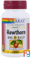 Hawthorn One Daily, Solaray, 30 Veggie Caps