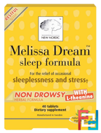 Melissa Dream, Sleep Formula, New Nordic US Inc, 40 Tablets