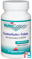 QuatreActiv Folate, Nutricology, 90 Veggie Caps