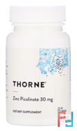 Zinc Picolinate, Thorne Research, 15 mg, 60 Capsules