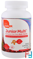 Junior Multi, Complete One-Daily Multi-Vitamin, Natural Cherry Flavor, Zahler, 180 Chewable Tablets