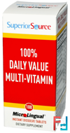 100% Daily Value Multi-Vitamin, Superior Source, 100 MicroLingual Instant Dissolve Tablets