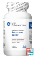 Potassium Basics, Life Enhancement, 240 Capsules