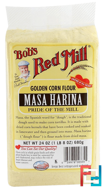 Masa Harina, Golden Corn Flour, Bob's Red Mill, 24 oz (680 g)