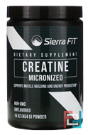 Micronized Creatine Powder, Sierra Fit, Unflavored, 16 oz, 454 g