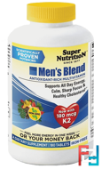 Men's Blend, Antioxidant Rich Multivitamin, Iron Free, Super Nutrition, 180 Tablets
