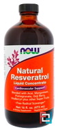 Natural Resveratrol, Liquid Concentrate, Now Foods, 16 fl oz, 473 ml