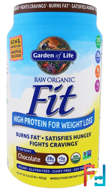 High Protein For Weight Loss, Garden of Life, Raw Organic Fit, 32.5 oz, 922 g)