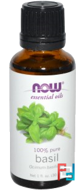 Essential Oils, Basil, Now Foods, 30 ml