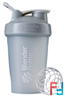 BlenderBottle, Classic With Loop, Pebble Grey, Sundesa, 20 oz