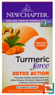 Turmeric Force Detox Action, New Chapter, 60 Veggie Caps