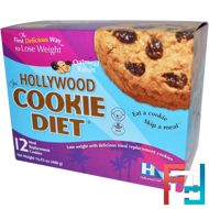 Oatmeal Raisin, Hollywood Diet, The Hollywood Cookie Diet, 12 Meal Replacement Cookies