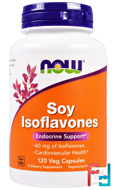Soy Isoflavones, Now Foods, 120 Veggie Caps