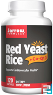 Red Yeast Rice + Co-Q10, Jarrow Formulas, 120 Capsules