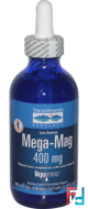 Mega-Mag, Natural Ionic Magnesium with Trace Minerals, Trace Minerals Research, 400 mg, 4 fl oz (118 ml)
