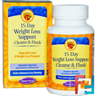 15-Day Weight Loss Support, Cleanse & Flush, Nature's Secret, 60 Tablets