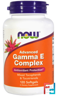 Gamma E Complex, Advanced, Now Foods, 120 Softgels