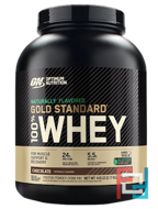 100% Whey Gold Standard Natural, Gluten Free, Optimum Nutrition, 4.8 lbs, 2180 g