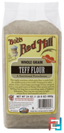 Whole Grain Teff Flour, Bob's Red Mill, 24 oz (680 g)