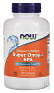 Super Omega EPA, Molecularly Distilled, Now Foods, 120 Softgels