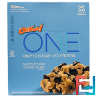 One Bar, Chocolate Chip Cookie Dough Flavor, Oh Yeah!, 12 Bars, 2.12 oz (60 g) Each