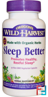 Sleep Better, Oregon's Wild Harvest, 90 Non-GMO Veggie Caps