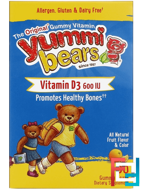 Yummi Bears, Vitamin D3, 600 IU, Hero Nutritional Products, 60 Gummy Bears