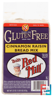 Gluten Free Cinnamon Raisin Bread Mix, Bob's Red Mill, 22 oz (623 g)