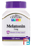 Melatonin, 21st Century, 5 mg, 120 Tablets