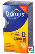 Liquid Vitamin D3, 2000 IU, Ddrops, 0.34 fl oz (10 ml)