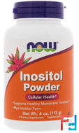 Inositol Powder, Now Foods, 4 oz (113 g)