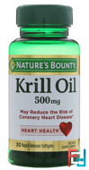 Red Krill Oil, 500 mg, Nature's Bounty, 30 Softgels