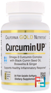 Curcumin UP Omega Blend, Inflammation Formula, California Gold Nutrition, 30 Fish Gelatin Softgels