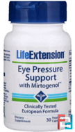 Eye Pressure Support with Mirtogenol, Life Extension, 30 Vegetarian Capsules