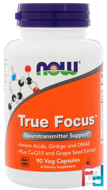 True Focus, Now Foods, 90 Veggie Caps