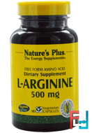 L-Arginine, Nature's Plus, 500 mg, 90 Veggie Caps