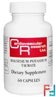 Magnesium-Potassium Taurate, Cardiovascular Research Ltd., 60 Capsules