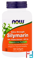 Silymarin, Extra Strength, Now Foods, 120 Softgels