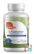 L-Tryptophan, Purified L-Tryptophan, Zahler, 500 mg, 60 Capsules