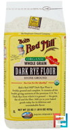 Organic, Dark Rye Flour, Bob's Red Mill, 22 oz (623 g)