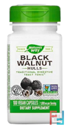 Black Walnut Hulls, Nature's Way, 1000 mg, 100 Vegan Capsules