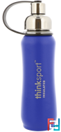 Thinksport, Insulated Sports Bottle, Blue, Think, 17 oz (500 ml)