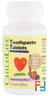 Toothpaste Tablets, ChildLife, 500 mg, 60 Tablets