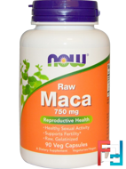Maca, Raw, Now Foods, 750 mg, 90 Veggie Caps