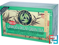 Ginkgo & Decaf Green Tea, 20 Tea Bags, Triple Leaf Tea, 1.4 oz (40 g)