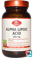 Alpha Lipoic Acid, 200 mg, Olympian Labs Inc., 60 Veggie Caps