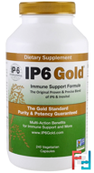 IP6 Gold, Immune Support Formula, IP-6 International, 240 Vegetarian Capsules