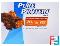 Chocolate Peanut Butter Bar, Pure Protein, 6 Bars, 1.76 oz (50 g) Each